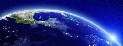 Central America Satellite Image