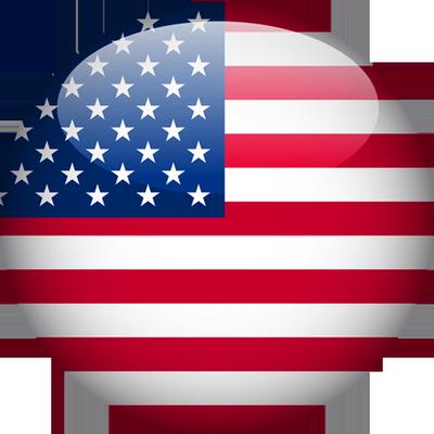 USA Flag Button 1
