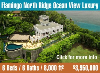 Luxury ocean view estate for sale on the north ridge of Flamingo, Costa Rica