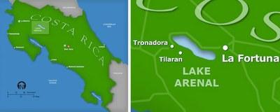 Lake Arenal Region Detail