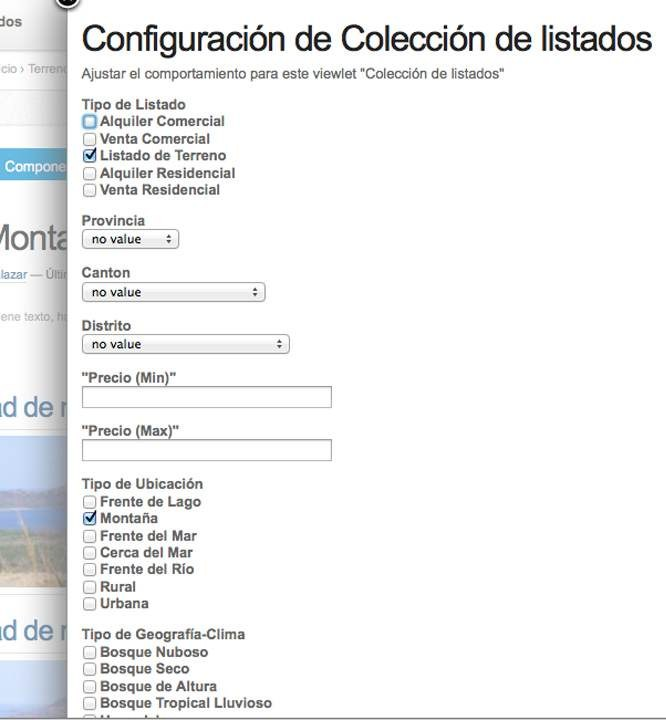 MLS integration configuration page