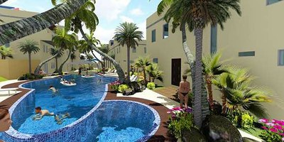 Community Pool Courtyard