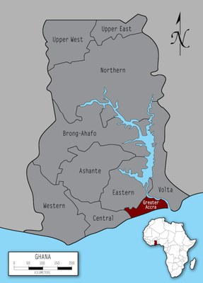 Ghana Map Greater Accra