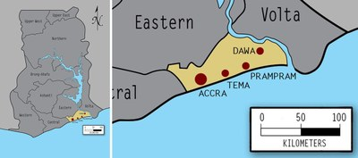 Greater Accra Composite Province Map