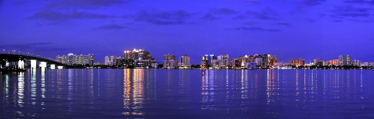 Downtown From Water Sarasota Florida