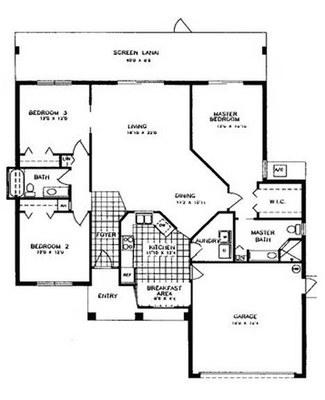 Oleander 3-2 Floor Plan