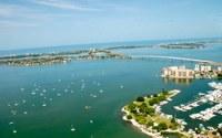 Sarasota, Florida arial view